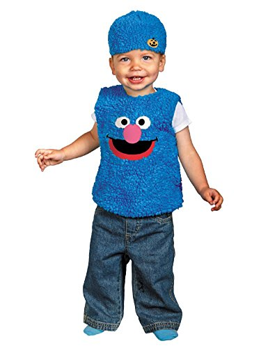 Sesame Street Infant & Toddler Boys & Girls Plush Blue Grover Costume with Hat
