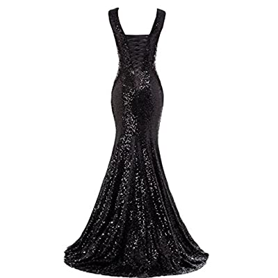 LanierWedding Gold Sequins Mermaid Bridesmaid Dresses Plus Size Prom Dresses at Women's Clothing store