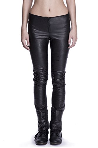 Women's Cut Leather & Wool Skinny Jeans by Corvus + Crux