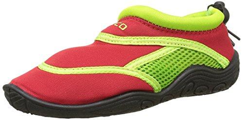 BECO Badeschuhe / Surfschuhe für Kinder rot/grün 30