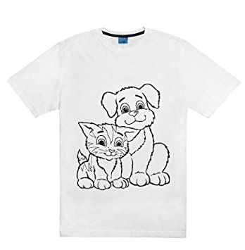 coloring t shirt kit children tees to color wear wash recolor