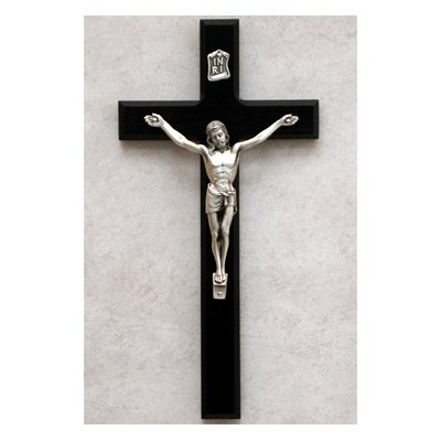 - McVan 10 Inch Black and Silver Crucifix Religious Catholic Christian Home Wall Décor