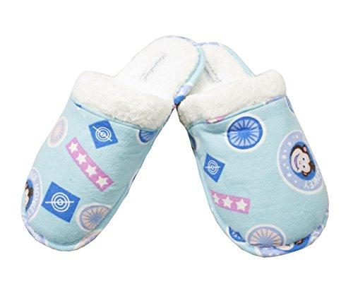Leisureland Damessweater Flanel Comfortabele Pantoffels Space Monkey Blue