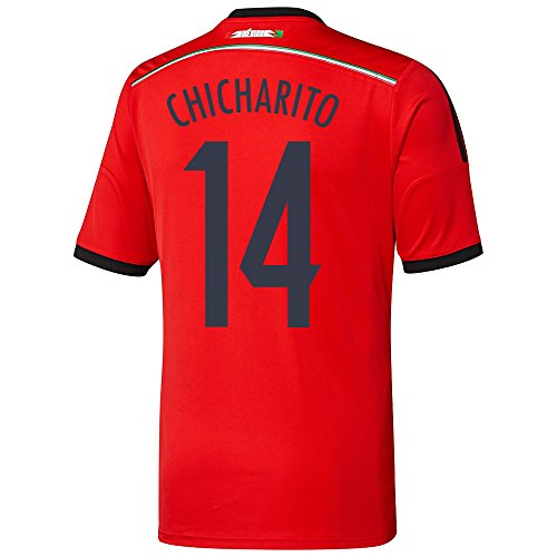 adidas CHICHARITO #14 Mexico Away Jersey World Cup 2014 Youth. (YL) red