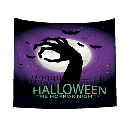 Unpara 2018 Halloween Tapestry Horror Ghoul Hand Print Wall Hanging Home Decor -