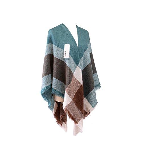 Women's Vintage Plaid Cozy Tartan Scarf Checked Shawl Wrap Neck Stole Pashimina (brown) (Vintage Scarf Wool)