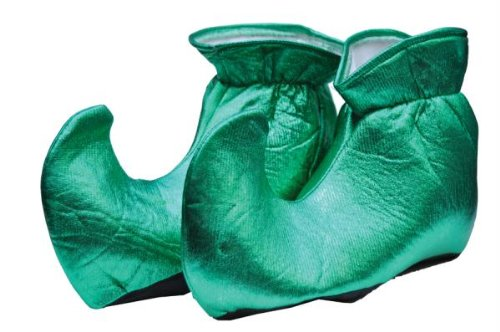 (Forum Novelties Women's Deluxe Costume Cloth Elf Shoes, Green, One)