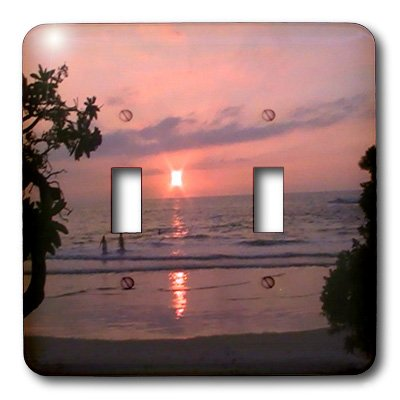 lsp_6075_2 Sandy Mertens Hawaii Travel Designs - Hawaiian Sunset - Light Switch Covers - double toggle switch by 3dRose