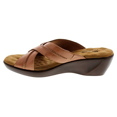 Walking Cradles Mujeres Premiere Flat Tan Burnished Leather