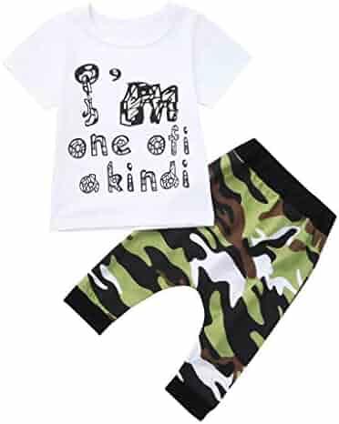 d213e780b Boys Summer 2 Piece Sets,Jchen Baby Little Boy Letter Print Short Sleeve T-