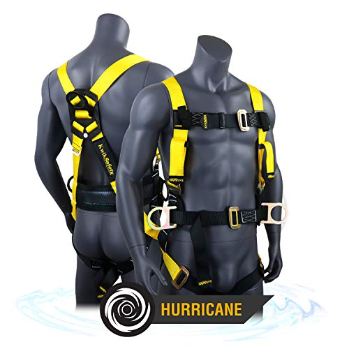 KwikSafety (Charlotte, NC) HURRICANE   OSHA ANSI Fall Protection Full Body Safety Harness w/Back Support   Personal Protective Equipment   Dorsal Ring Side D-Rings   Construction Industrial Roofing (Responsibilities Of The Three Branches Of Government)