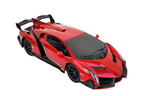 XQ TOYS 1/18 Scale R/C Lamborghini Veneno Supercar Radio Remote Control Model Car RC (Red) (Lamborghini Veneno Model)