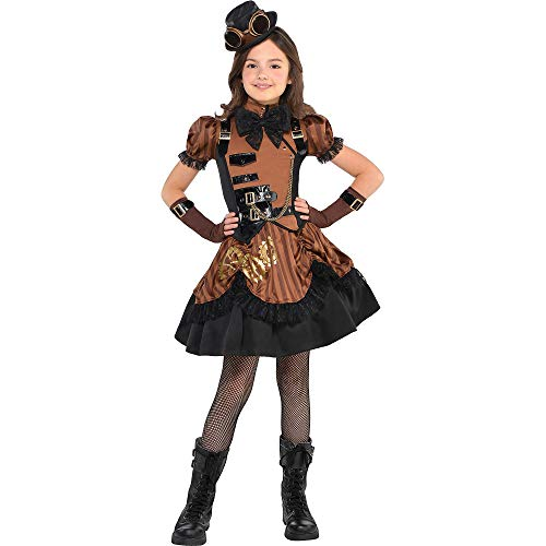 amscan Steampunk Halloween Costume for Girls, Large, with Included Accessories