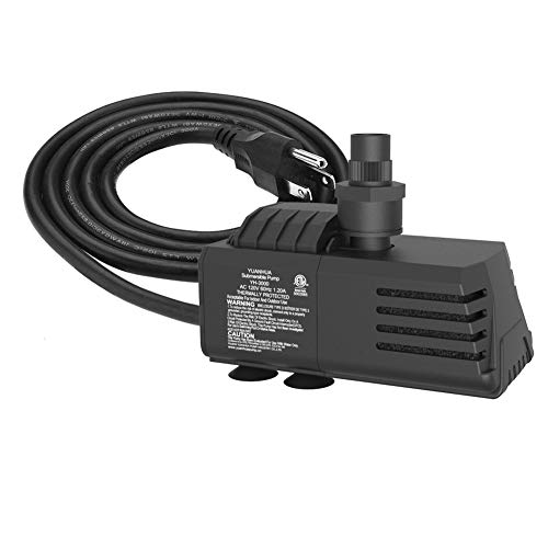 Submersible Water Pump 11.5ft Power Cord 1100GPH Ultra Quiet Pump with Dry Burning Protection for Fountains, Hydroponics, Ponds, Statuary, Aquariums & More ... (Hydroponics And Fish)
