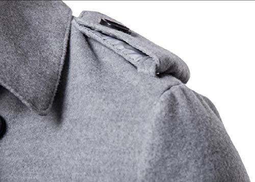 Jacket Blend Pea Lapel Breasted Notch 1 Mens Wool Gocgt Coat Double qwpzOI