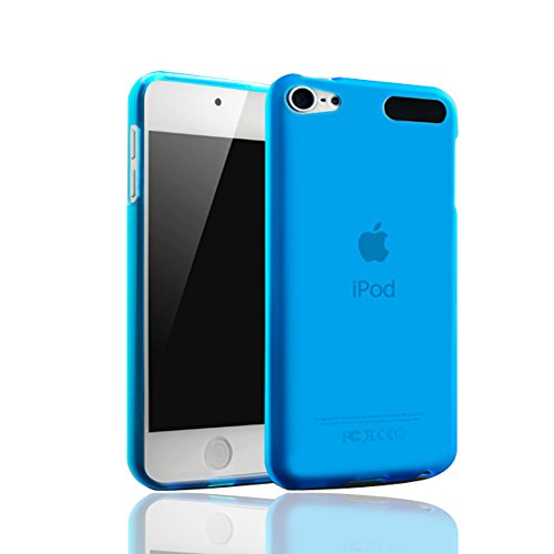 KuGi APPLE ipod touch 6 / 5 case - frosted style High quality ultra-thin Soft TPU Case for New iPod Touch 6th / 5th Generation. (Blue) (Ipod Thin 5 Case Touch)