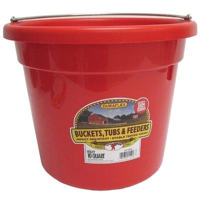 Little Giant Dura-Flex Plastic Utility Bucket, 10-Quart, Red (Bucket Plastic Utility)