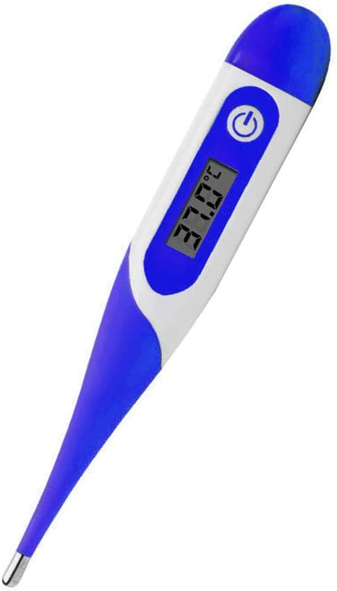TTShonf Ear and Forehead Thermometer,Fever Alarm and Memory Function丨 Electronic Digital Soft Head Thermometer Ears Oral Temperature Measurement Tool for Baby Kids Adults Indoor Outdoor Orange