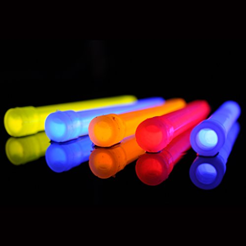 HUMVEE HMV 6BL10 6 Inch Weatherproof Lightstick with 8 Hour Glow Time, Blue, 10 Pack