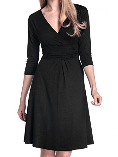 Viscose Jersey 3/4 Sleeve Dress - 1