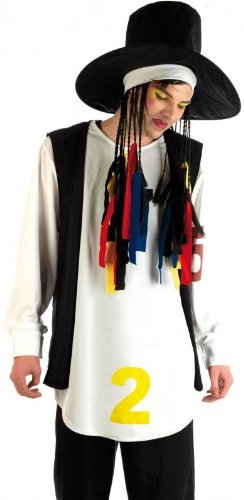 [Fun Shack Adult Boy George 80s Pop Star Costume - LARGE by Fun Shack] (80s Costumes For Boys)
