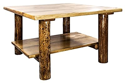 Glacier Country Collection Cocktail Table with Shelf