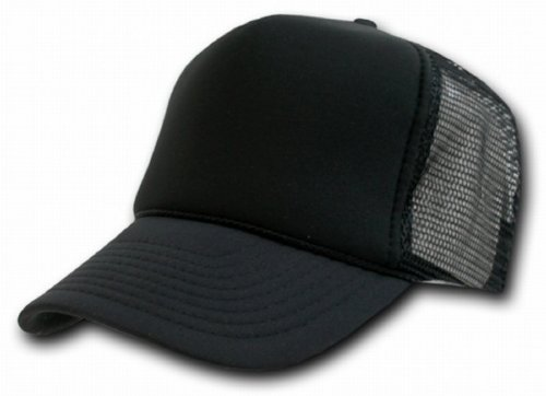 Decky Black Mesh Trucker Style Cap Hat Caps Hats Adjustable (Custom Bucket Hat compare prices)