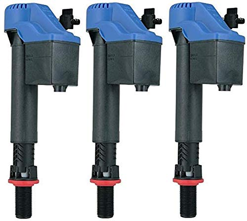Korky 528GT Universal Fill Valve for Toto Toilets, Blue (3-Pack)