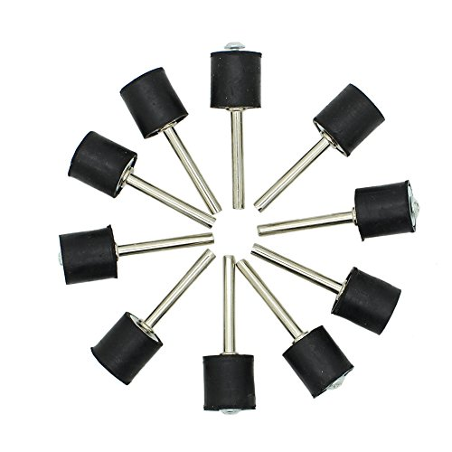 """Top AUTOTOOLHOME 10pc 1/2"""" Drum Rubber Mandrels 1/8"""" Shank for Sanding Sander Fit Dremel free shipping"""