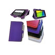 Google Nexus 7 2 (2013) Multi-Angle 'Pen' Case with Auto Sleep Wake Sensor and 2 in 1 Stylus / Biro Pen by LuvTab® (Purple)