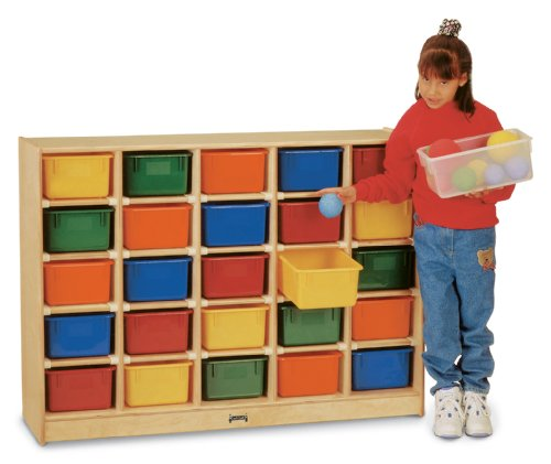25 Tray Mobile Cubbie with Colored Trays - School & Play Furniture
