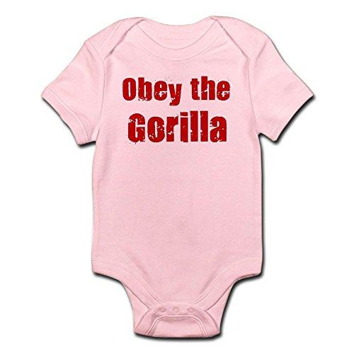 CafePress - Obey the Gorilla Infant Bodysuit - Cute Infant Bodysuit Baby Romper (Pink Gorilla Suit)