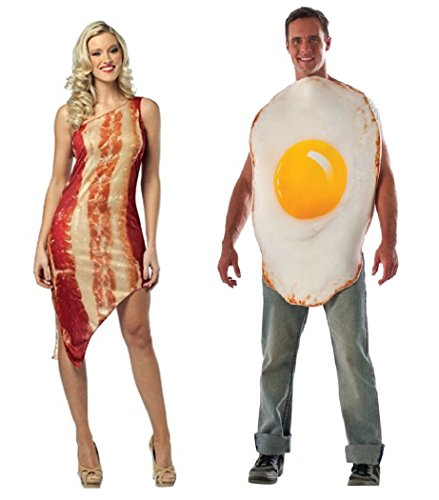 Bacon and Eggs Adult Couple Costumes