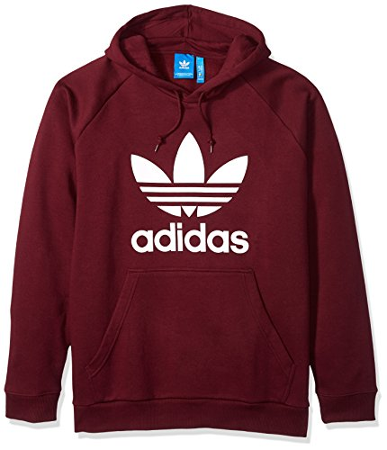 Hoody Maroon Sweatshirt (adidas Originals Men's Trefoil Hoodie, Maroon, Medium)