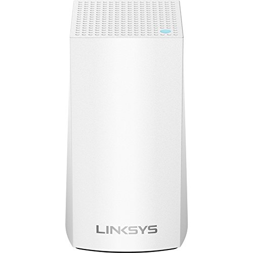 Review Linksys Velop AC1300 Dual-Band Whole Home WiFi Intelligent Mesh System, 1-Pack/1-2 bedrooms/apt/single-story, Easy Setup, Maximize Range and Speed, Works with Alexa