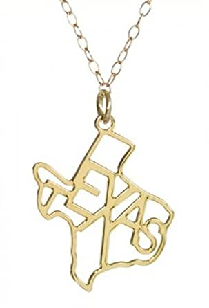 Kris Nations State Pride Texas Necklace (Gold)