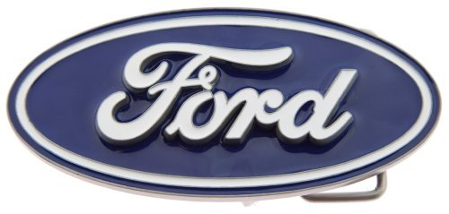 FAMOUS FORD OVAL EMBLEM PEWTER - REG'D TRADEMARK - Ford Pewter Belt Buckle