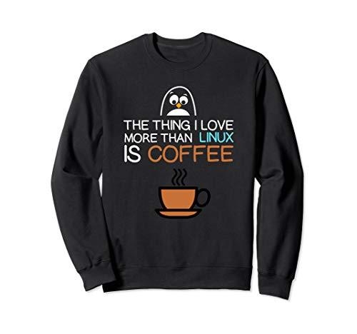 Tux Sweatshirt (Funny Unix TUX & Linux Shell Sweatshirt)