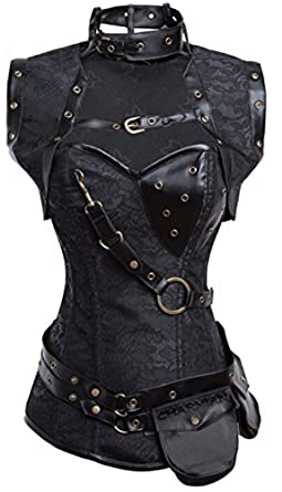 Vintage Inspired Lingerie Charmian Womens Steampunk Spiral Steel Boned Vintage Retro Corset Tops Bustier $52.99 AT vintagedancer.com