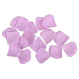 Ablest 1000 Pcs Wedding Bridal Shower Decoration Artificial Silk Flower Petals Light Purple 2