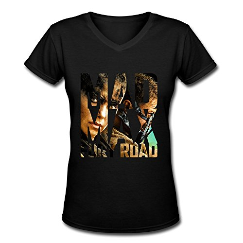 Mad Thunderdome Costumes Max Beyond (AOPO Mad Max Fury Road V-Neck Short Sleeve T-shirts For Women)