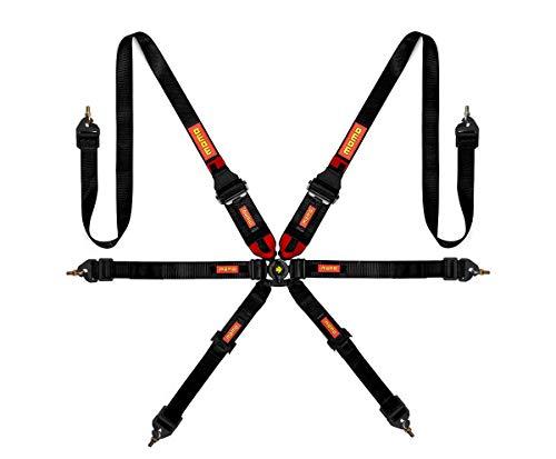 (MOMO SR6 6-Point Black Frontal Head Restraint System Harness - Part #)