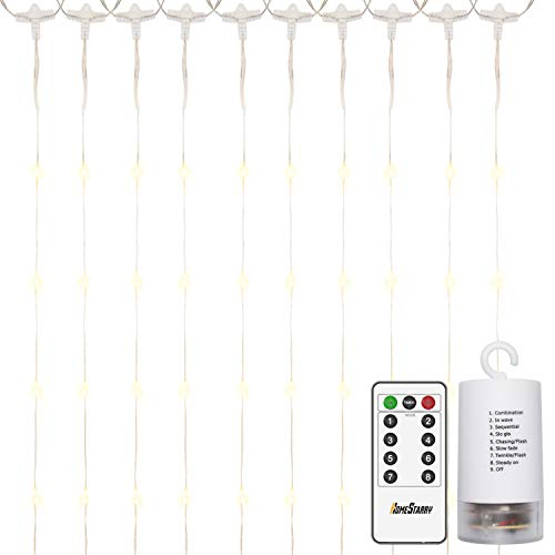 Cheap  300 LEDs Window Curtain Battery Operated Fairy String Lights,Curtain String Lights with..