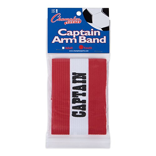 Champion Sports Captain Arm Bands, Red