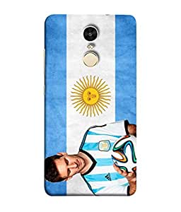 ColorKing Football Messi Argentina 01 Blue shell case cover for Xiaomi Redmi Note 4