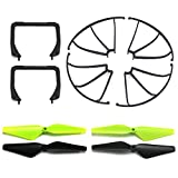 Cheerwing Replacement Parts Set CW4 UDI RC U42W U42WH U45 U45W RC Drone, Propellers, Propeller Guards, Landing Gear