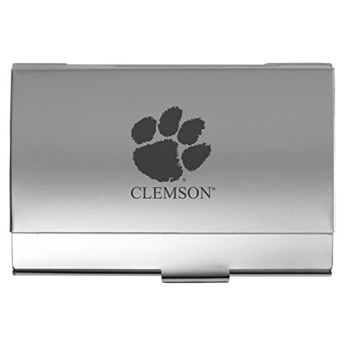 Clemson University - Two-Tone Business Card Holder - (Ncaa Card Holder)