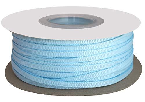 DUOQU 1/8 inch Wide Grosgrain Ribbon 100 Yards Roll Multiple Colors Light Blue