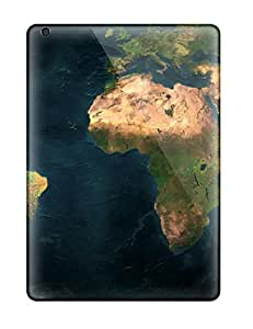 Best New Shockproof Protection Case Cover For Ipad Air/ Earth Map Dual Monitor Case Cover