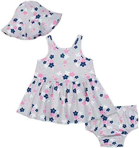 Gerber Baby Girls' 3-Piece Dress Set